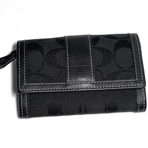 Coach signature C fold up wallet